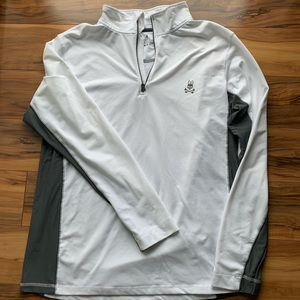 Psycho bunny zipped pullover long sleeve shirt